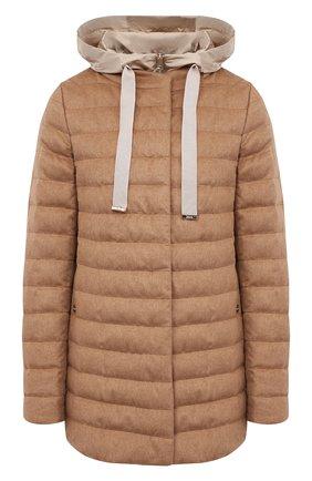 Женская пуховая куртка HERNO бежевого цвета, арт. PI1093D/38087 | Фото 1