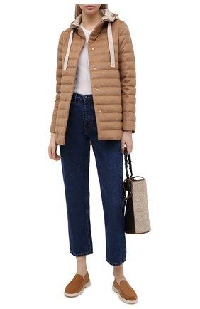 Женская пуховая куртка HERNO бежевого цвета, арт. PI1093D/38087 | Фото 2
