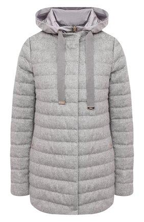 Женская пуховая куртка HERNO серого цвета, арт. PI1093D/38087 | Фото 1
