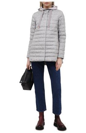 Женская пуховая куртка HERNO серого цвета, арт. PI1093D/38087 | Фото 2