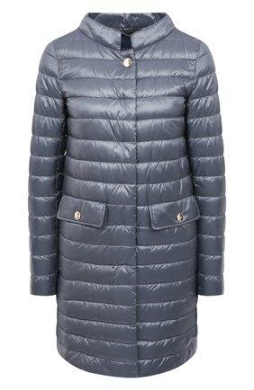 Женское пуховое пальто HERNO голубого цвета, арт. PI1232D/12017 | Фото 1