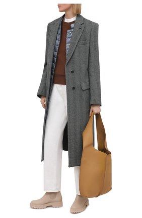 Женское пуховое пальто HERNO голубого цвета, арт. PI1232D/12017 | Фото 2