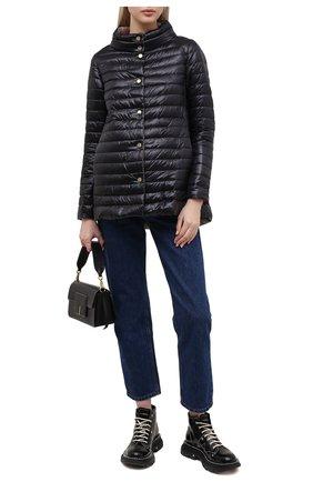 Женская пуховая куртка HERNO черного цвета, арт. PI1234D/12017 | Фото 2