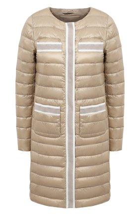 Женское пуховое пальто HERNO бежевого цвета, арт. PI1245D/12017 | Фото 1