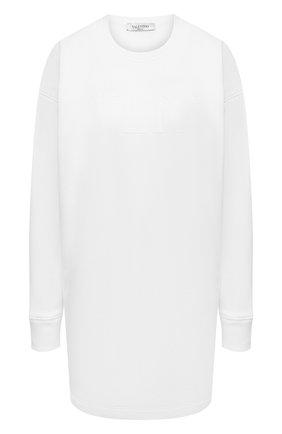 Женский хлопковый пуловер VALENTINO белого цвета, арт. VB3MF08T66A | Фото 1