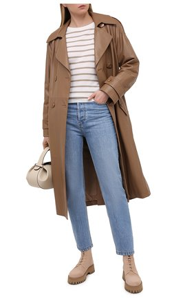 Женский пуловер из шерсти и кашемира BRUNELLO CUCINELLI бежевого цвета, арт. M16170300 | Фото 2