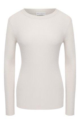 Женский пуловер BRUNELLO CUCINELLI кремвого цвета, арт. M41822900 | Фото 1