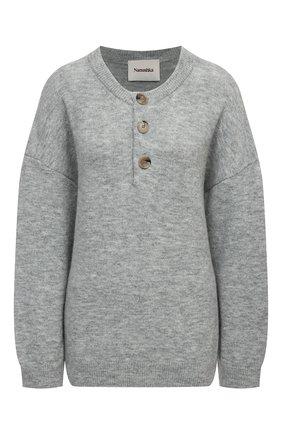Женский пуловер NANUSHKA серого цвета, арт. LAMEE_HEATHER GREY_FLUFFY KNIT | Фото 1