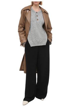Женский пуловер NANUSHKA серого цвета, арт. LAMEE_HEATHER GREY_FLUFFY KNIT | Фото 2