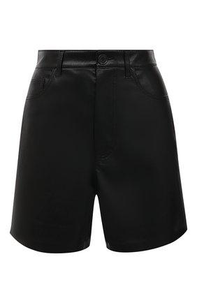 Женские шорты NANUSHKA черного цвета, арт. LEANA_BLACK_VEGAN LEATHER | Фото 1