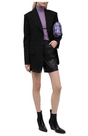 Женские шорты NANUSHKA черного цвета, арт. LEANA_BLACK_VEGAN LEATHER | Фото 2