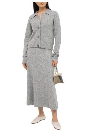 Женская юбка NANUSHKA серого цвета, арт. RAZI_HEATHER GREY_FLUFFY KNIT | Фото 2