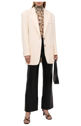 Женские брюки NANUSHKA черного цвета, арт. RHYAN_BLACK_VEGAN LEATHER | Фото 2