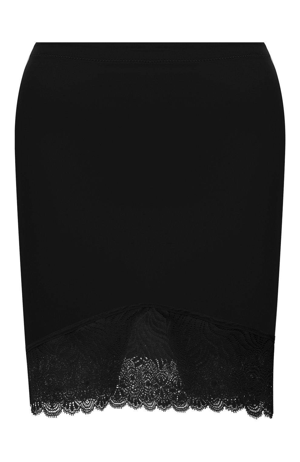 Женские корректирующая юбка-шорты SIMONEPERELE черного цвета, арт. 16R943 | Фото 1