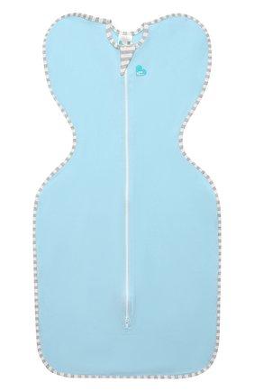 Детский хлопковый комбинезон-мешок LOVE TO DREAM голубого цвета, арт. L10 01 001 BL M | Фото 1