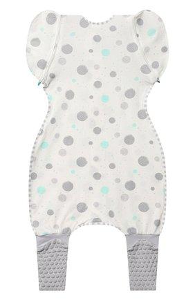 Детский комбинезон-конструктор для переходного этапа LOVE TO DREAM белого цвета, арт. L25 02 085 WHT XL | Фото 4 (Рукава: Короткие; Материал внешний: Хлопок; Ростовка одежда: 12 мес | 80 см)