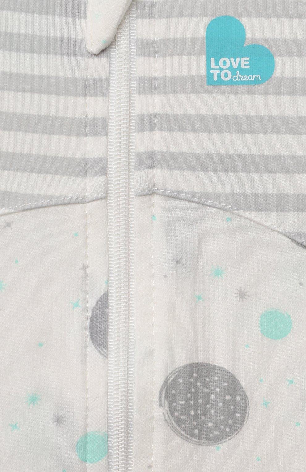 Детский комбинезон-конструктор для переходного этапа LOVE TO DREAM белого цвета, арт. L25 02 085 WHT XL | Фото 5 (Рукава: Короткие; Материал внешний: Хлопок; Ростовка одежда: 12 мес | 80 см)