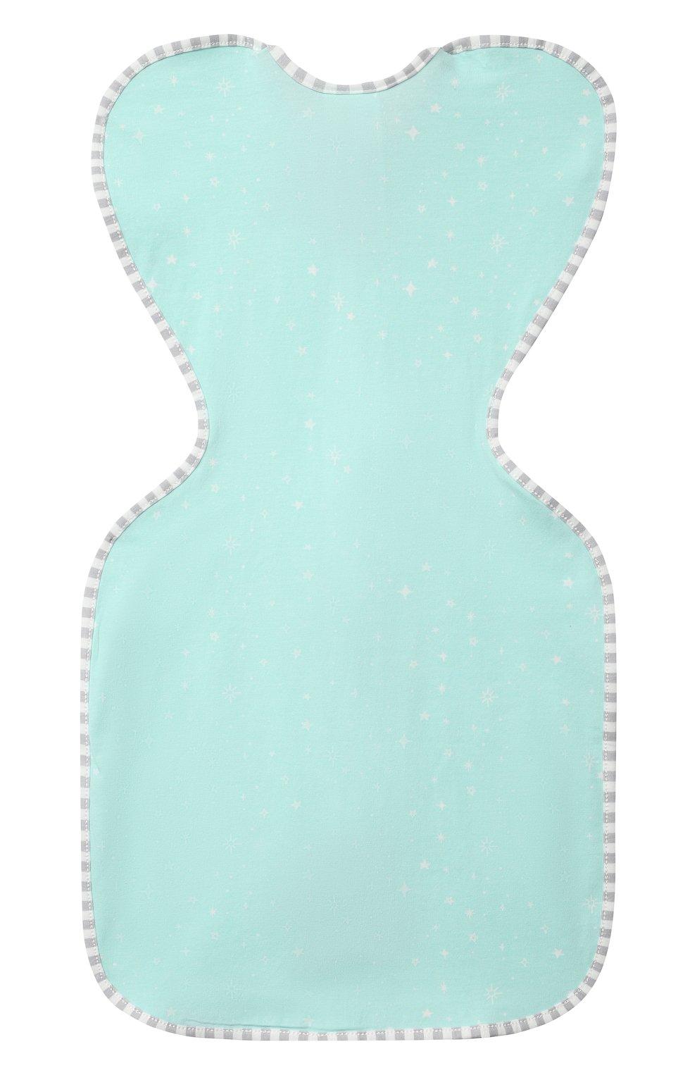 Детский хлопковый комбинезон-мешок LOVE TO DREAM светло-зеленого цвета, арт. L10 02 030 MNT S   Фото 2 (Рукава: Короткие; Материал внешний: Хлопок; Ростовка одежда: 3 мес   62 см)