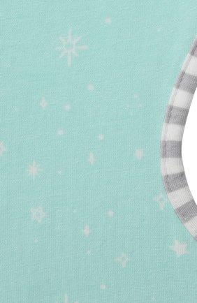 Детский хлопковый комбинезон-мешок LOVE TO DREAM светло-зеленого цвета, арт. L10 02 030 MNT S   Фото 3 (Рукава: Короткие; Материал внешний: Хлопок; Ростовка одежда: 3 мес   62 см)