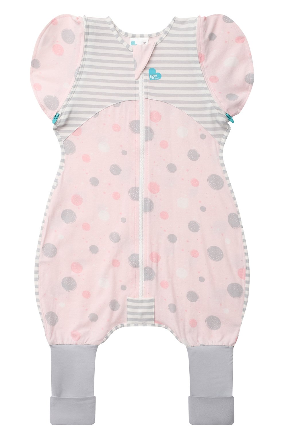 Детский комбинезон-конструктор для переходного этапа LOVE TO DREAM розового цвета, арт. L25 02 085 PNK XL   Фото 3 (Рукава: Короткие; Материал внешний: Хлопок; Ростовка одежда: 12 мес   80 см)