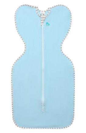 Детский хлопковый комбинезон-мешок LOVE TO DREAM голубого цвета, арт. L10 01 001 BL L | Фото 1