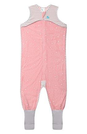 Детский хлопковый комбинезон LOVE TO DREAM розового цвета, арт. L40 16 088 PNK 4Y | Фото 1