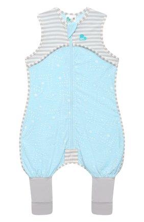 Детский хлопковый комбинезон LOVE TO DREAM голубого цвета, арт. L40 16 088 BLU 24M | Фото 1
