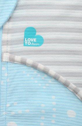 Детский хлопковый комбинезон LOVE TO DREAM голубого цвета, арт. L40 16 088 BLU 24M | Фото 3