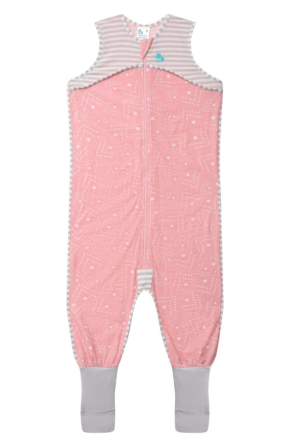 Детский хлопковый комбинезон LOVE TO DREAM розового цвета, арт. L40 16 088 PNK 24M | Фото 1