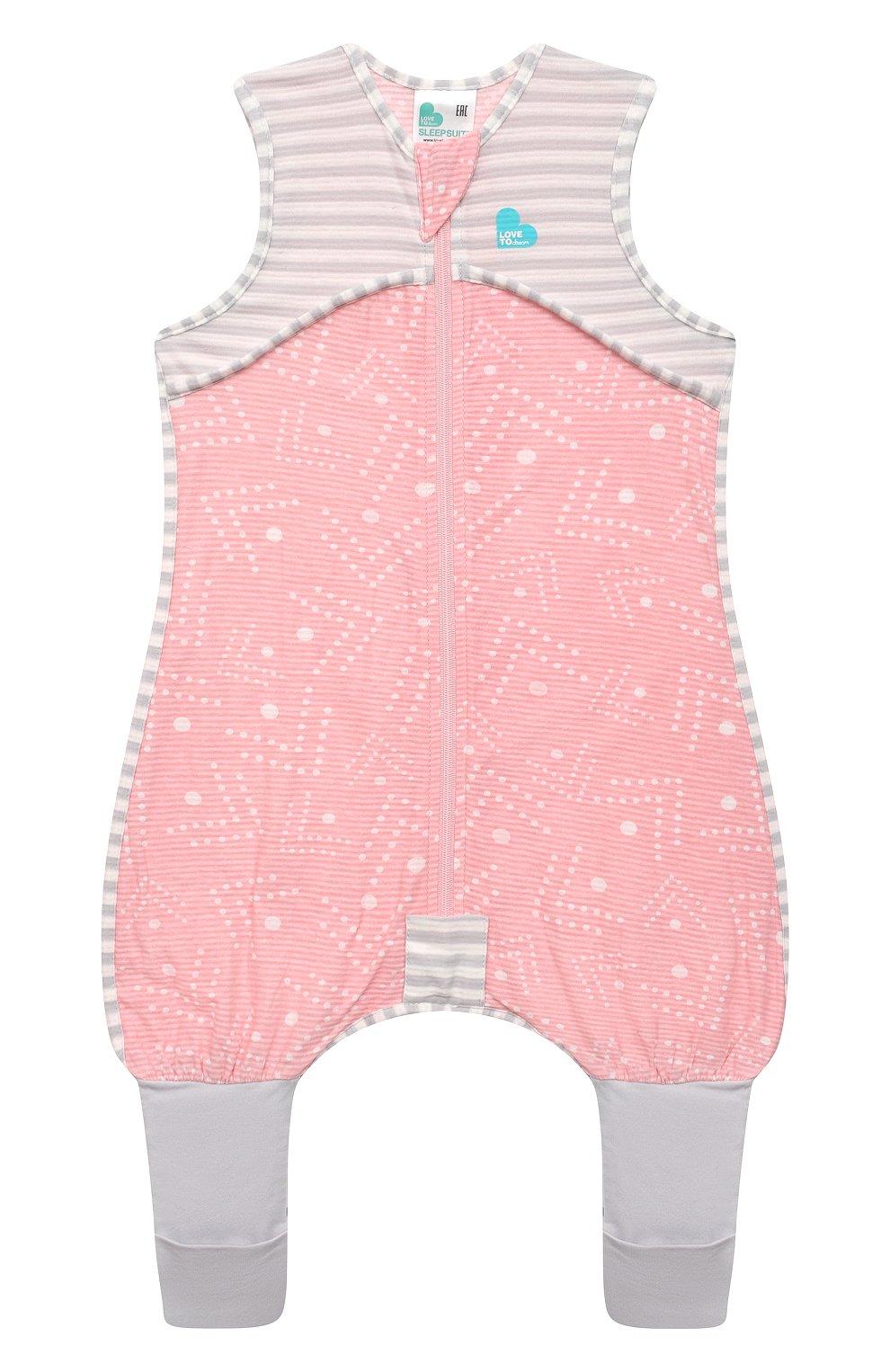 Детский хлопковый комбинезон LOVE TO DREAM розового цвета, арт. L40 16 088 PNK 12M   Фото 1 (Рукава: Короткие; Материал внешний: Хлопок; Ростовка одежда: 12 мес   80 см)
