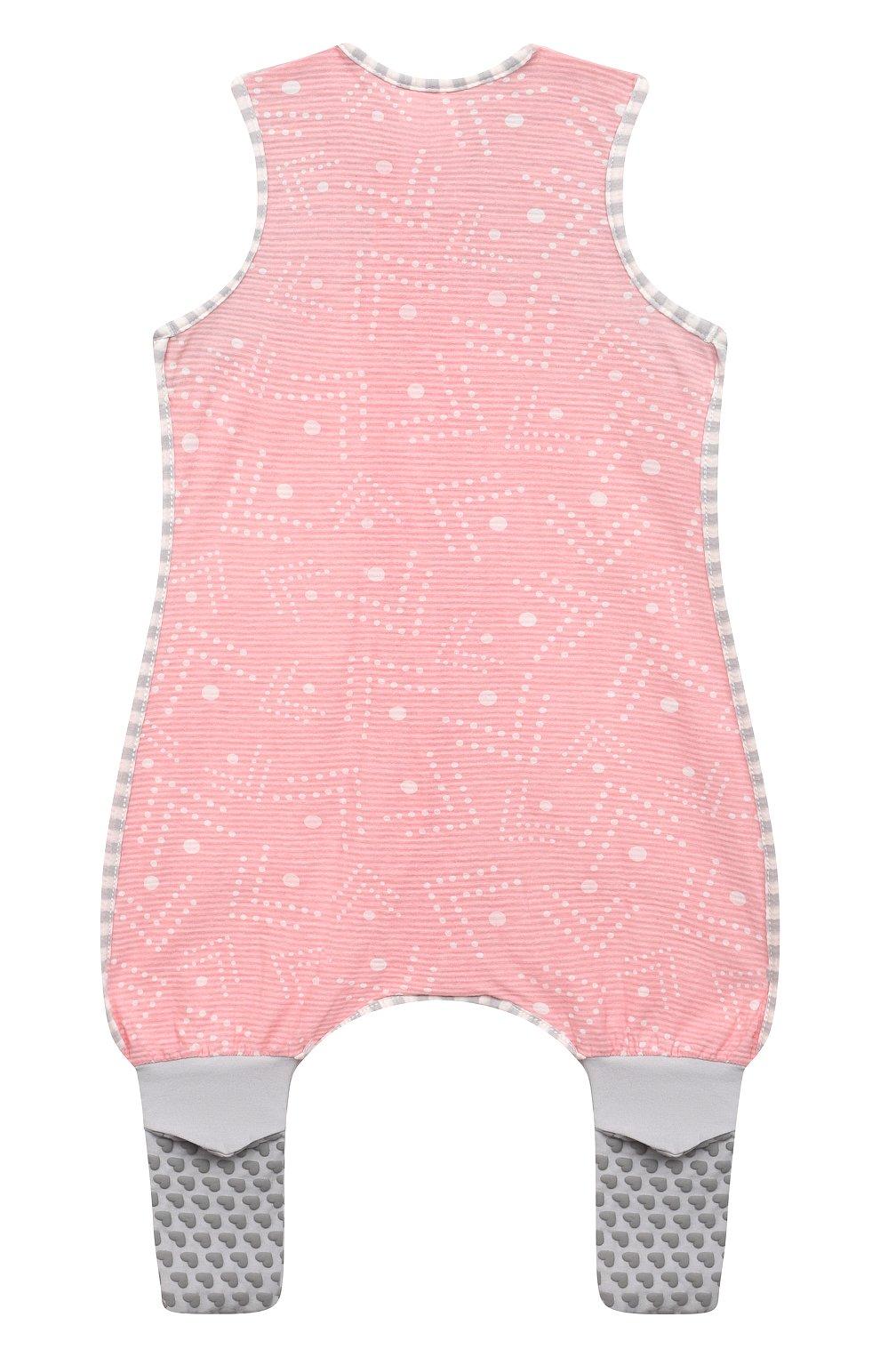 Детский хлопковый комбинезон LOVE TO DREAM розового цвета, арт. L40 16 088 PNK 12M   Фото 2 (Рукава: Короткие; Материал внешний: Хлопок; Ростовка одежда: 12 мес   80 см)