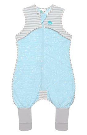 Детский хлопковый комбинезон LOVE TO DREAM голубого цвета, арт. L40 16 088 BLU 12M | Фото 1