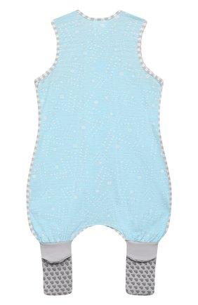Детский хлопковый комбинезон LOVE TO DREAM голубого цвета, арт. L40 16 088 BLU 12M | Фото 2