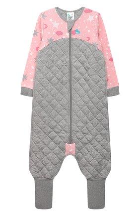 Детский хлопковый комбинезон LOVE TO DREAM розового цвета, арт. L40 07 190 PNK 3Y | Фото 1