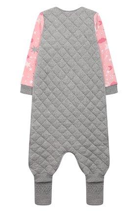 Детский хлопковый комбинезон LOVE TO DREAM розового цвета, арт. L40 07 190 PNK 3Y | Фото 2