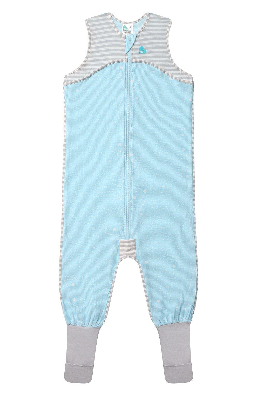 Детский хлопковый комбинезон LOVE TO DREAM голубого цвета, арт. L40 16 088 BLU 4Y   Фото 1 (Рукава: Короткие; Материал внешний: Хлопок; Ростовка одежда: 4 года   104 см)