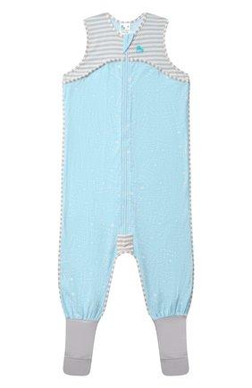 Детский хлопковый комбинезон LOVE TO DREAM голубого цвета, арт. L40 16 088 BLU 4Y | Фото 1