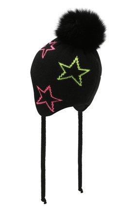 Детского шапка-балаклава CHOBI черного цвета, арт. WH-3034   Фото 2