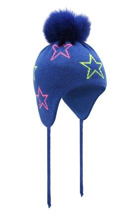 Детского шапка-балаклава CHOBI синего цвета, арт. WH-3034   Фото 1