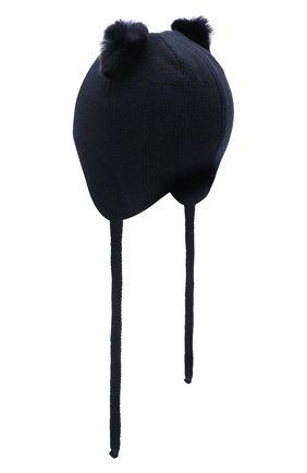 Детского шерстяная шапка CHOBI синего цвета, арт. WH-3090 | Фото 2