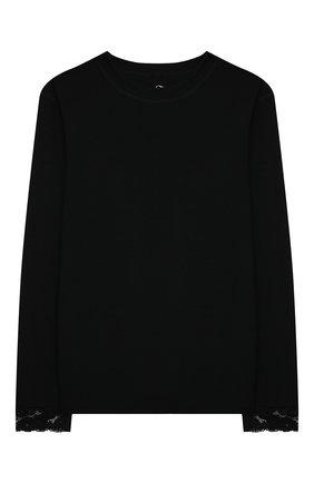 Детская комплект из лонгслива и брюк WOOL&COTTON черного цвета, арт. BJGFPK | Фото 2