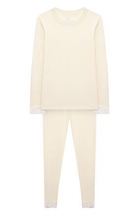 Мужского комплект из лонгслива и брюк WOOL&COTTON бежевого цвета, арт. BJGFPK | Фото 1