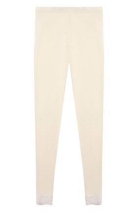 Детская комплект из лонгслива и брюк WOOL&COTTON бежевого цвета, арт. BJGFPK   Фото 4