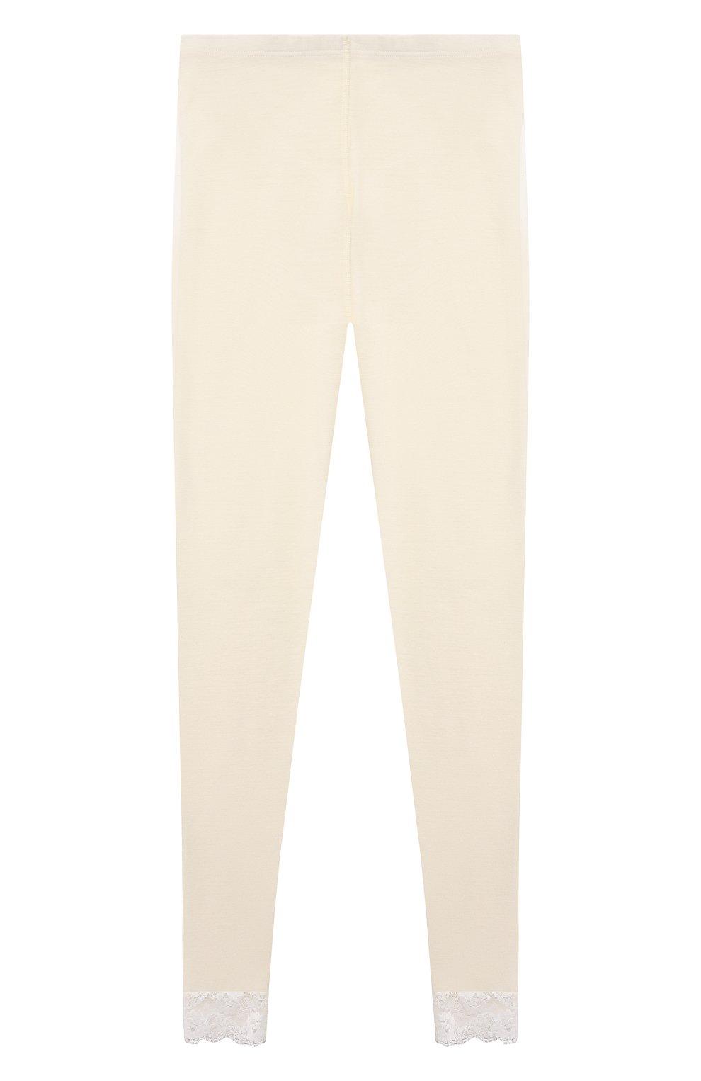 Детская комплект из лонгслива и брюк WOOL&COTTON бежевого цвета, арт. BJGFPK   Фото 5