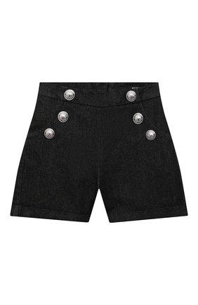 Детские джинсовые шорты BALMAIN черного цвета, арт. 6M6169 | Фото 1