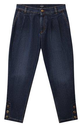 Детские джинсы BALMAIN синего цвета, арт. 6O6180 | Фото 1