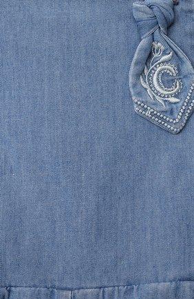 Детский комбинезон CHLOÉ голубого цвета, арт. C04184 | Фото 3