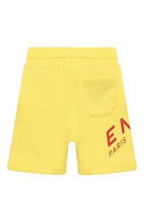Детские хлопковые шорты GIVENCHY желтого цвета, арт. H24119 | Фото 2