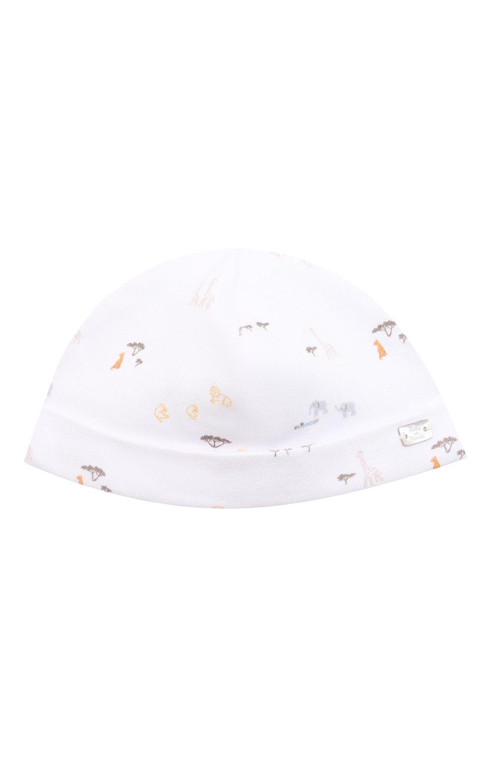 Детского хлопковая шапка TARTINE ET CHOCOLAT белого цвета, арт. TS90151 | Фото 1 (Материал: Текстиль, Хлопок)
