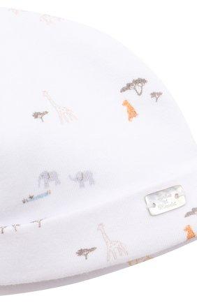 Детского хлопковая шапка TARTINE ET CHOCOLAT белого цвета, арт. TS90151 | Фото 3 (Материал: Текстиль, Хлопок)
